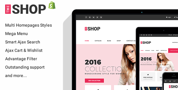 Clothing Fashion Responsive Shopify Theme TheShop