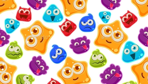 Colourful Jelly Characters with Emotion