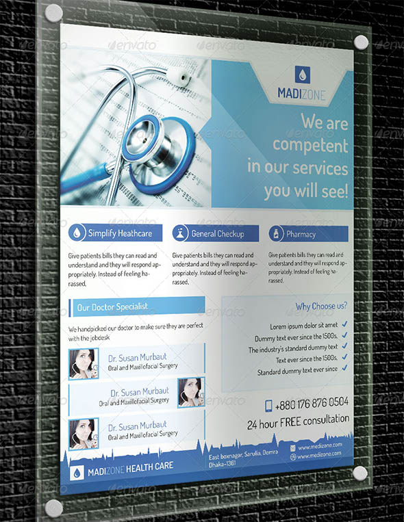 Exclusive Corporate Medical Flyer