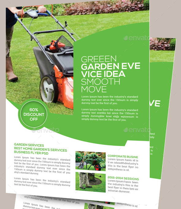 16 cool garden service flyer templates desiznworld for Garden maintenance flyer template