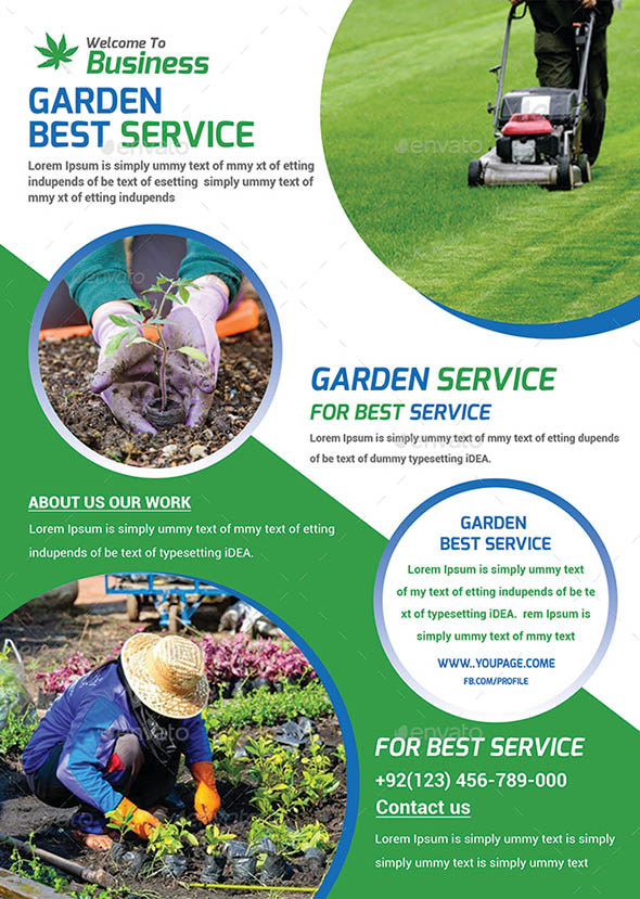 16 cool garden service flyer templates desiznworld for Gardening services