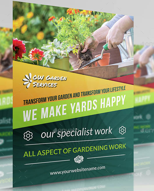 Garden Services Flyer Template Vol