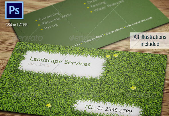 16 Cool Garden Business Card Templates Desiznworld