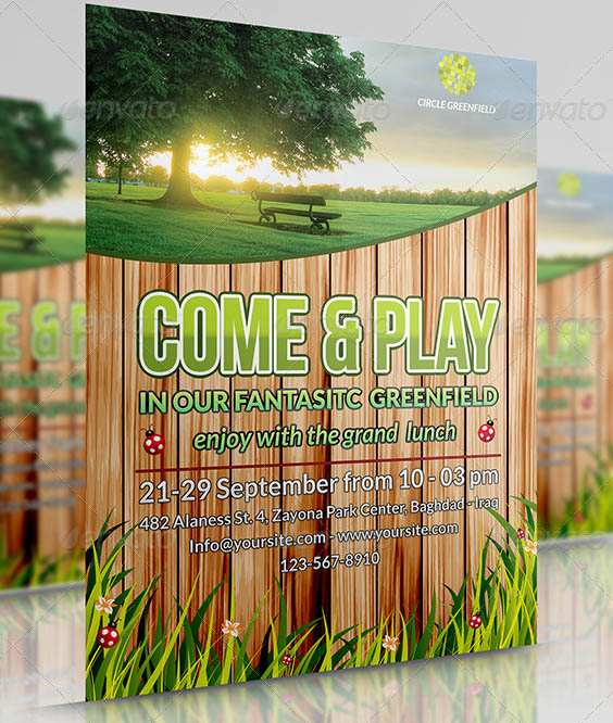 Green field Flyer Template