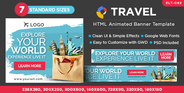 HTML5 TRAVEL Banners