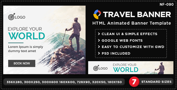 HTML5 Travel Banners GWD 7