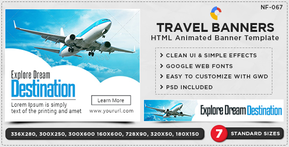HTML5 Travel Banners GWD