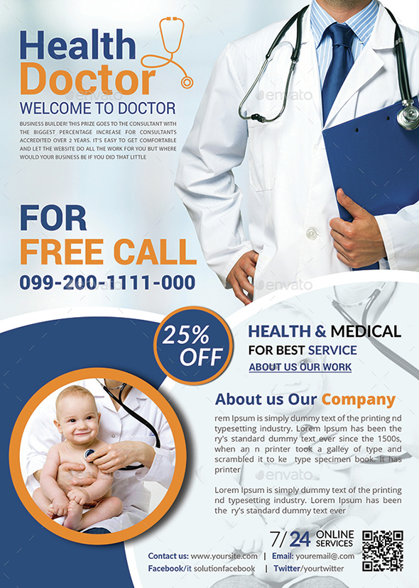 Health Medical Doctors Flyer Template