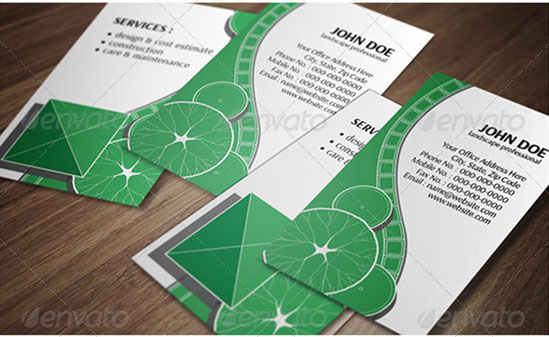 Landscape Design Vertical Business Card