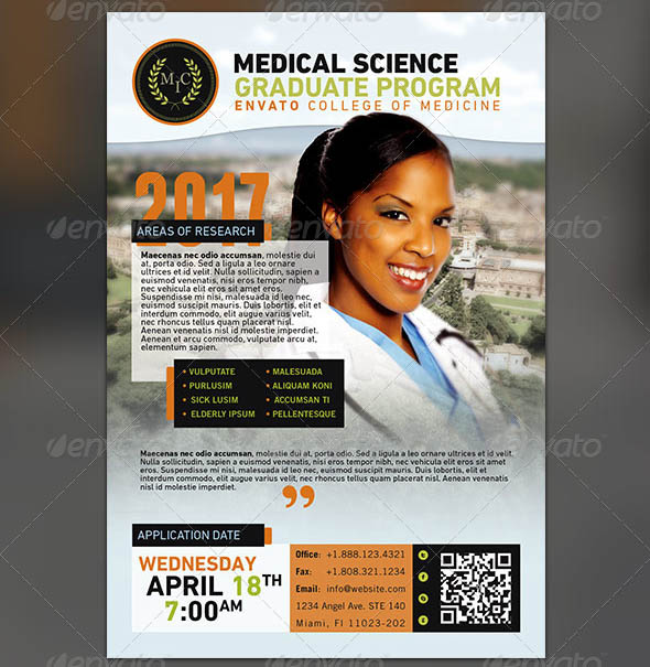 Medical Graduate Program Flyer Template
