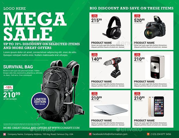 Mega Sale Flyer