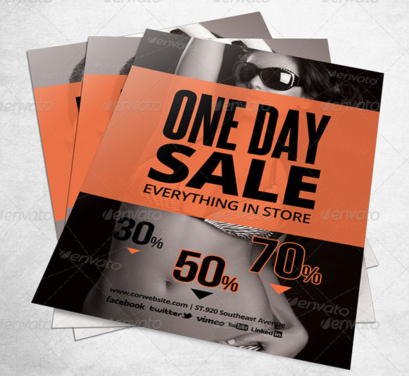 Store Sale Flyer Template