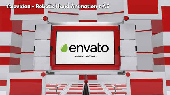 Television Robotic Hand Animation 7 AE