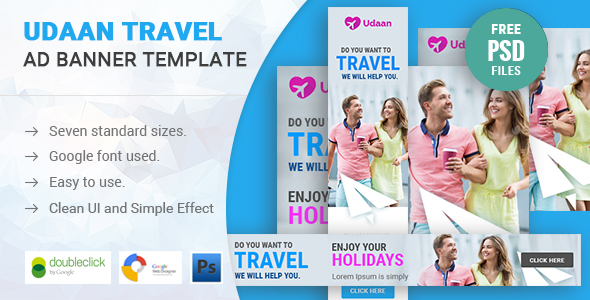 Udaan Travel HTML 5 Animated Google Banner