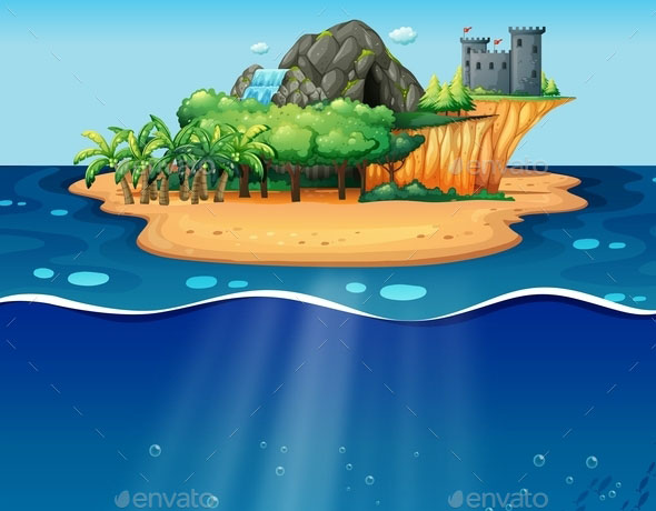 Underwater and Island