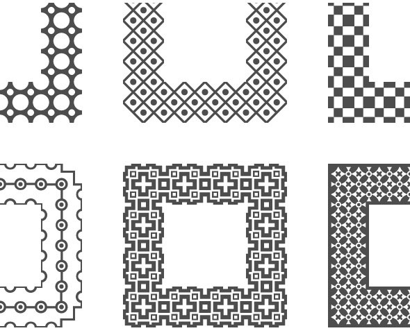 Universal Different Vector Pattern Brushes