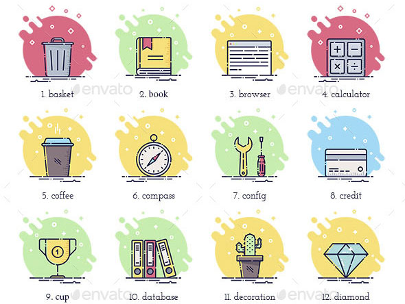 100 Office Business Icons