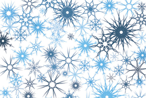 12 Snow Decorations Brushes
