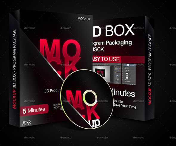 3D box Software Package Product Box