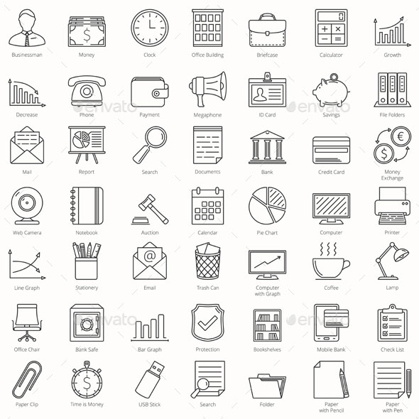 49 Business and Office Icons
