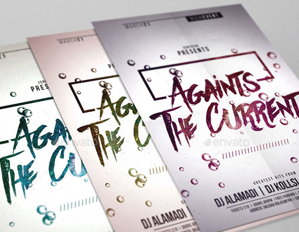 Against The Current Party Flyer