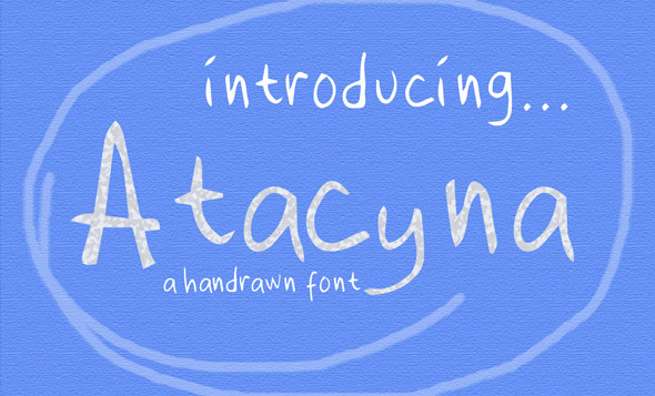 Atacyna cute hand drawn display font