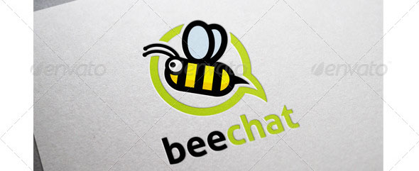 Bee Chat Logo Template