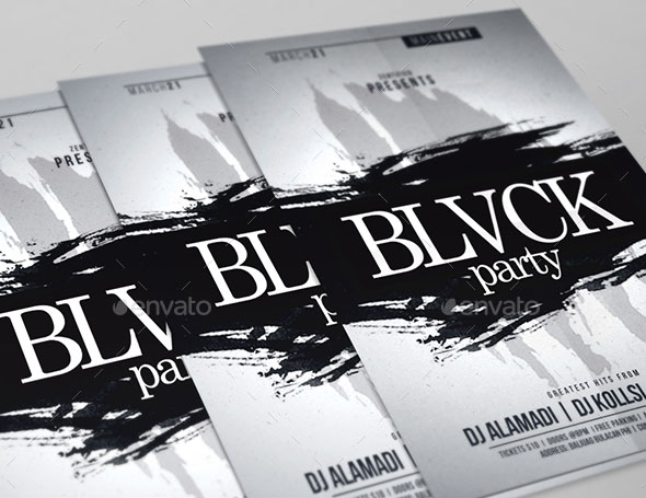 Blvck Party Flyer