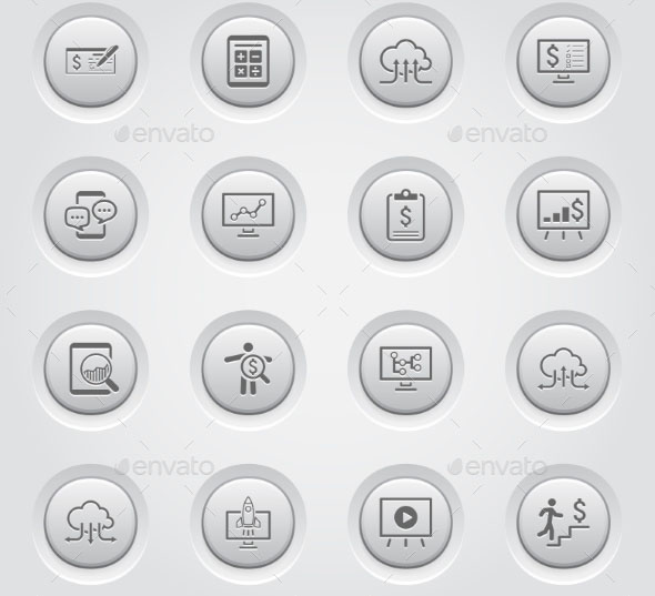 Business And Money Icons Set