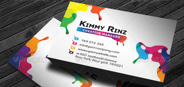 Business Card Artistic Painting