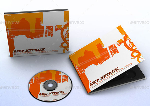 CD Case Disc Mock-ups