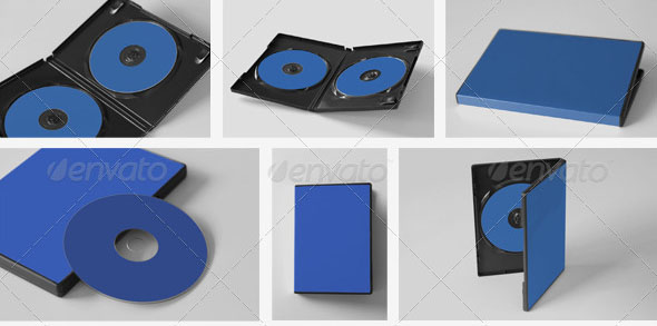 CD DVD Disc Cover Mockups 01