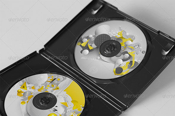 CD DVD Disc Cover Mockups