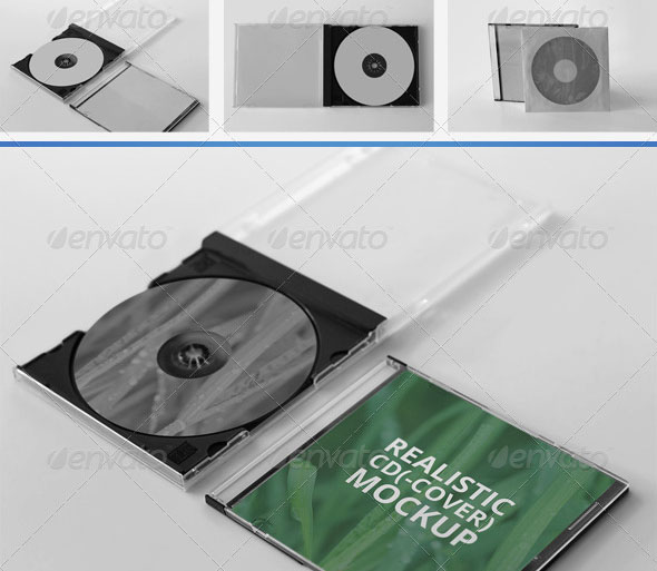 CD Disc Cover Mockups