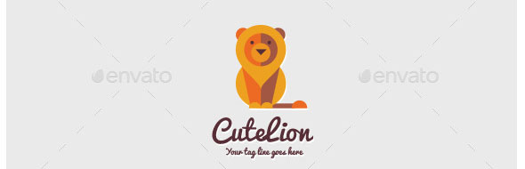 Cute Lion Logo