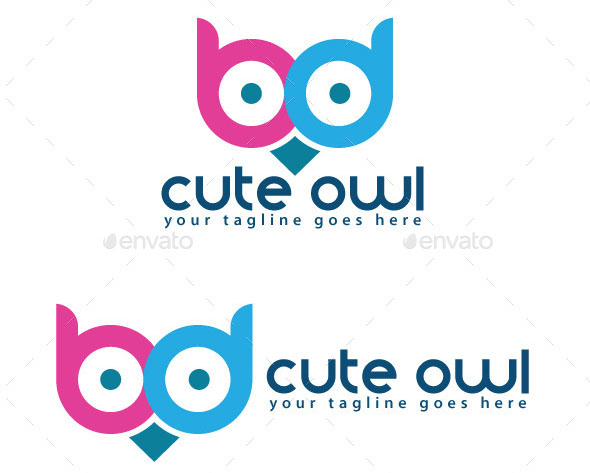 Cute Owl Logo Template