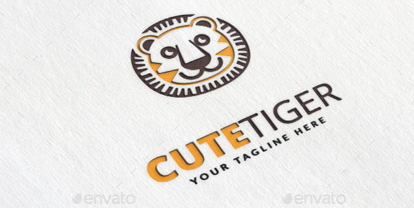 Cute Tiger Logo Template