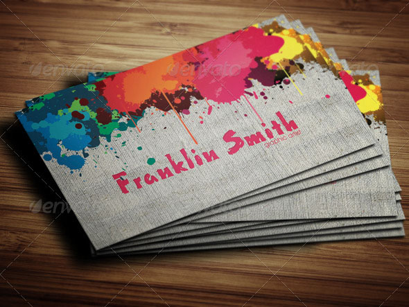Graphic Paint Artist Business Card
