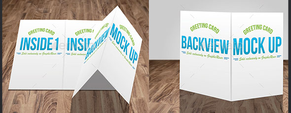 Greeting Card Mock Up