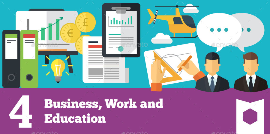 Icons for Business Work and Education