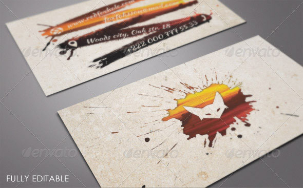 Ink Artistic Photo Business Card