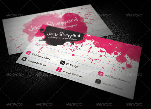 Paint Notepad Business Card
