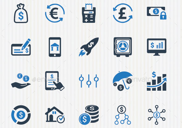 Personal And Business Finance Icons