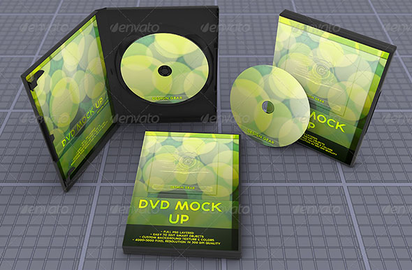 Realistic DVD Mock Up