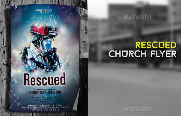 Rescued Church Flyer Poster