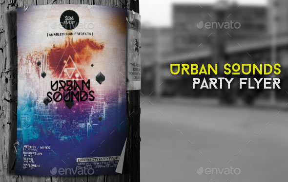 Urban Sounds Flyer Poster