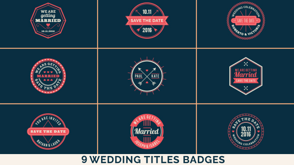 Wedding Titles Badges