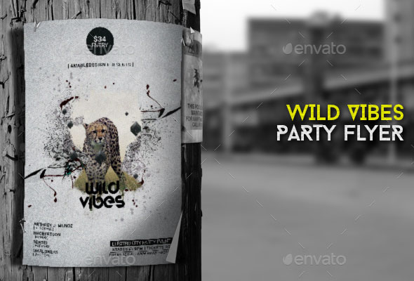 Wild Vibes Flyer Poster