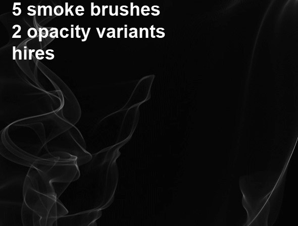 5 Photoshop Smoke Brushes