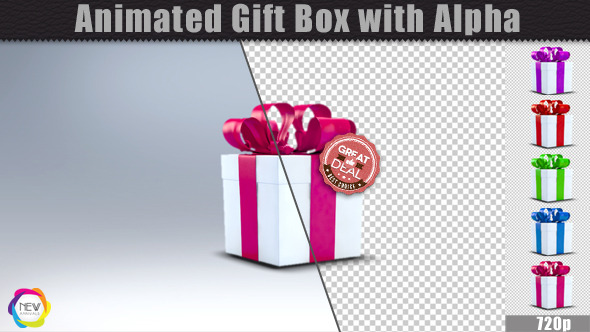 Animated Gift Box with Alpha